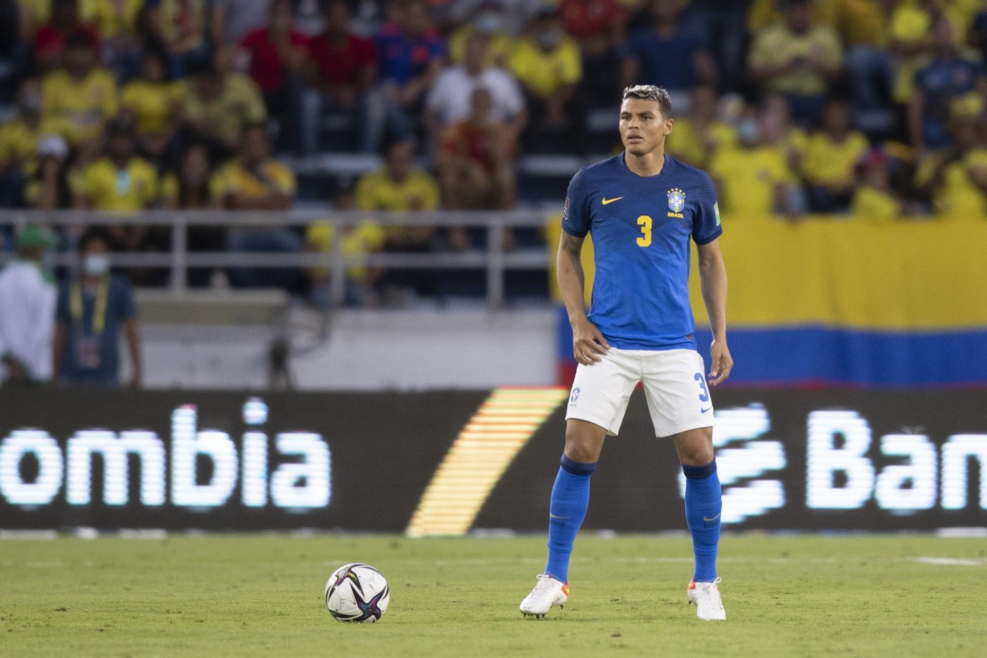 Zagueiro Thiago Silva admitiu desempenho decepcionante do Brasil contra a Colômbia (Foto: Lucas Figueiredo/CBF)