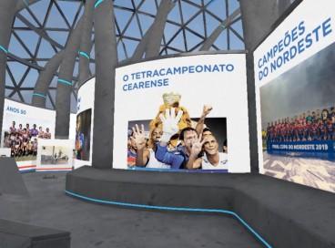 Galeria virtual do Fortaleza conta com cinco espaços, corredor e sala