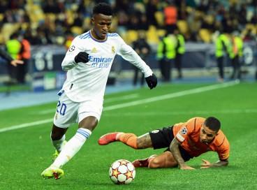 Brasileiro Vinícius Junior comandou a vitória do Real Madrid diante do Shakhtar Donetsk pela Liga dos Campeões