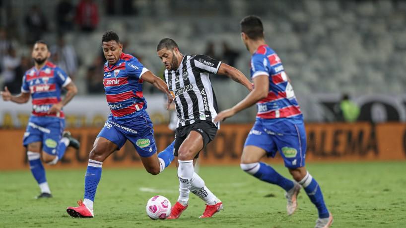 Atlético-MG e Fortaleza se enfrentaram pelo jogo de ida das semifinais da Copa do Brasil no Mineirão. (foto: Pedro Souza / Atlético)
