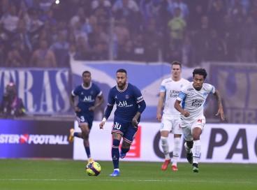 Neymar não teve boa atuação contra o Olympique de Marseille