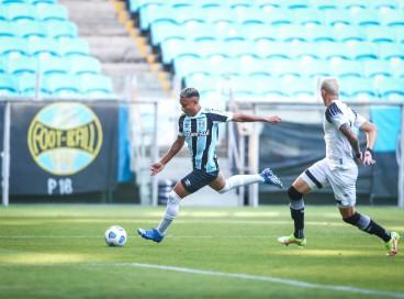 Lance da partida entre Grêmio e Ceará disputada na tarde desta quarta-feira, 27, na Arena do Grêmio, em partida válida pela final do Campeonato Brasileiro de Aspirantes 2021.