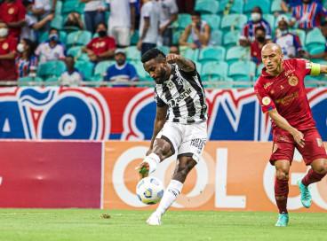 Mendoza marcou o gol do Ceará no empate por 1 a 1 contra o Bahia, pela Série A