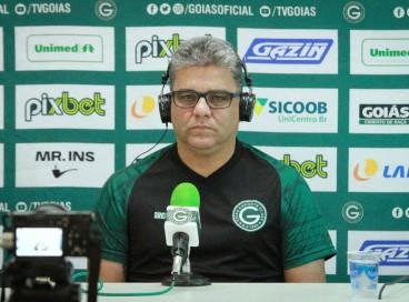 O técnico Marcelo Cabo concedeu entrevista coletiva na tarde desta segunda-feira