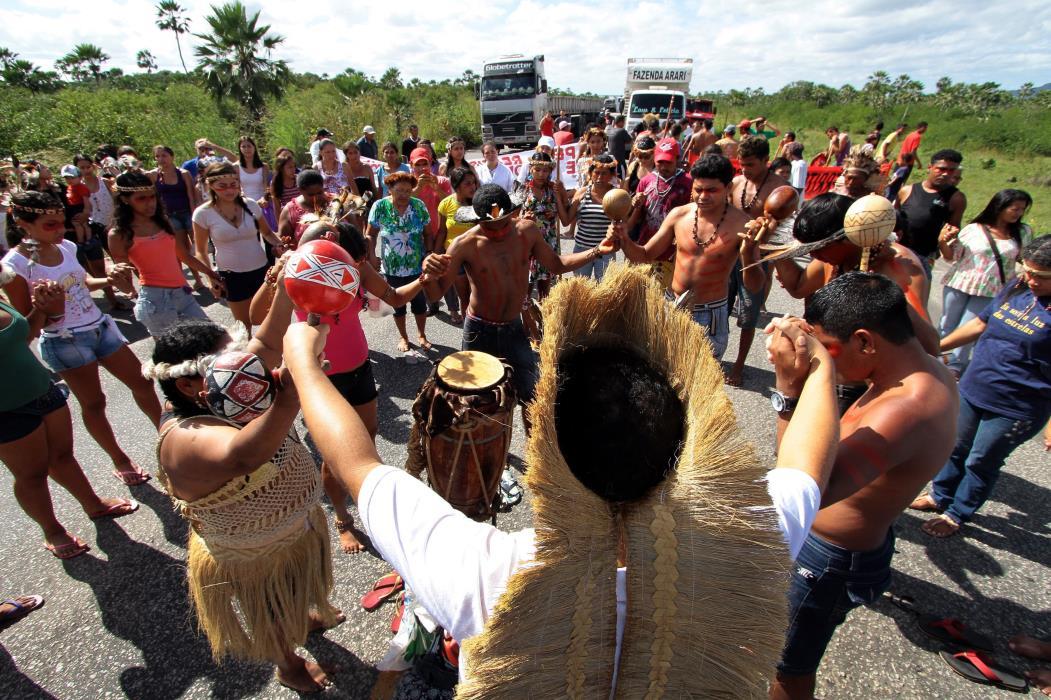 Índios Tapebas reivindicam posse de terras em 2012: luta dos povos indígenas se fortaleceu nos últimos anos