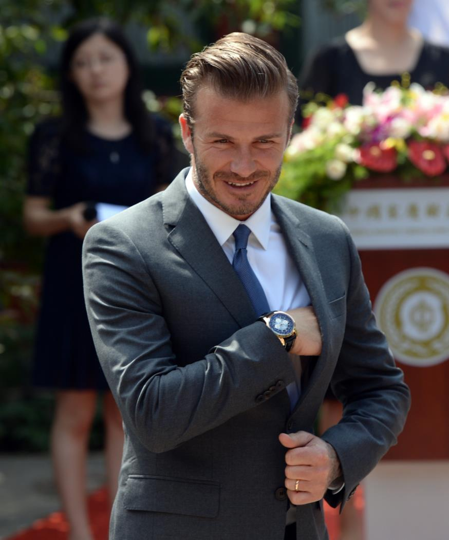 O marido de Victoria Beckham tem sua assinatura estimada em 999 libras.