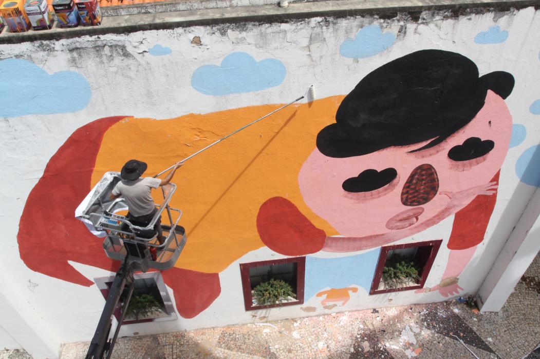 Grafites do Concreto nos muros do Instituto Dragão do Mar