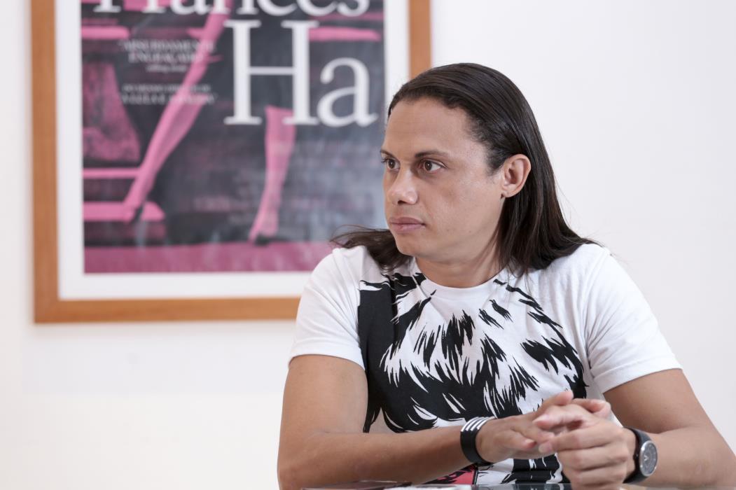 FORTALEZA, CE, 06-01-2016: Silvero Pereira, ator em entrevista ao O POVO