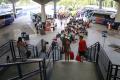 FORTALEZA, CE, BRASIL, 24-02-2017:Saída dos Fortalezenses rumo ao carnaval. Terminal rodoviário Engenheiro João Tomé.(Foto: Júlio Caesar/ O POVO)