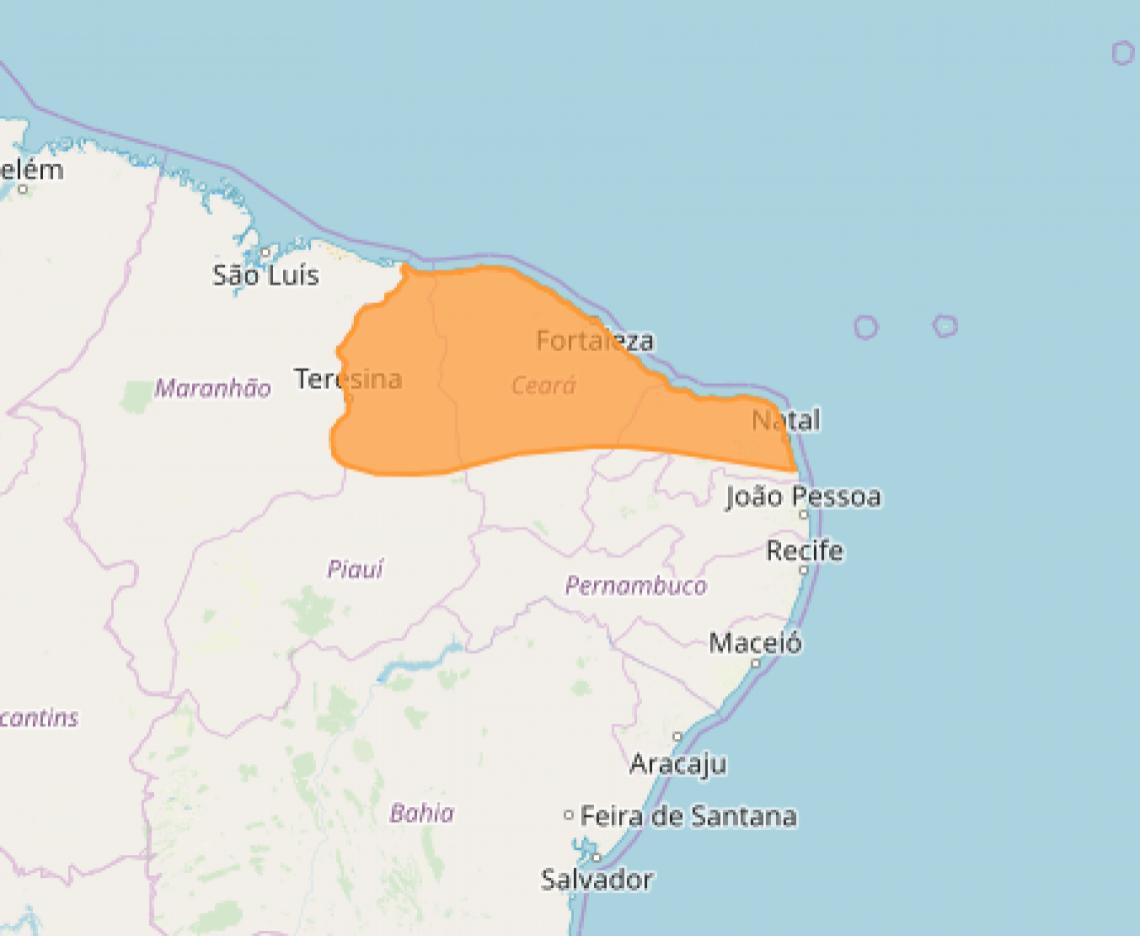 As áreas da Região Metropolitana de Fortaleza e do Norte, Noroeste, Sertão e Jaguaribe seriam as mais afetadas.