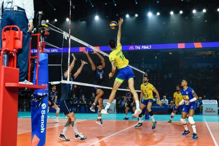 Brasil e Irã fizeram um jogaço. (Foto: FIVB)