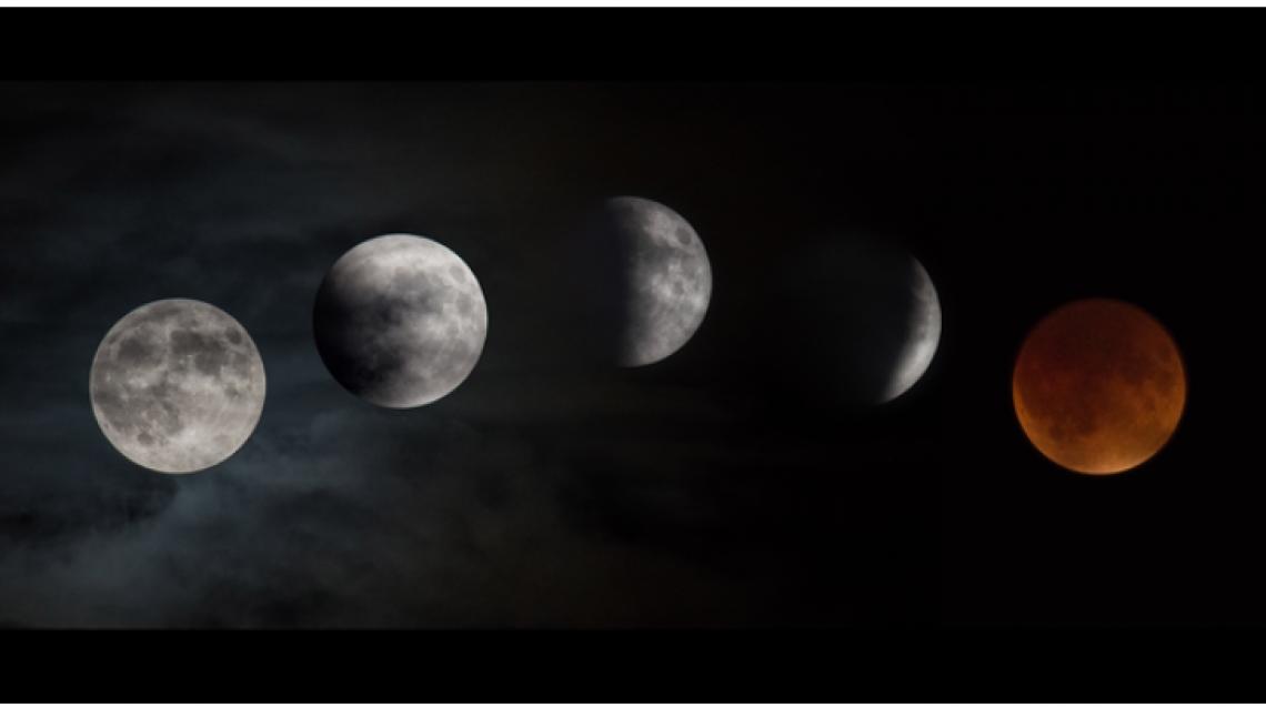 O fenômeno ocorre quando Sol, Terra e Lua se alinham, e nosso planeta faz sombra sobre o satélite.