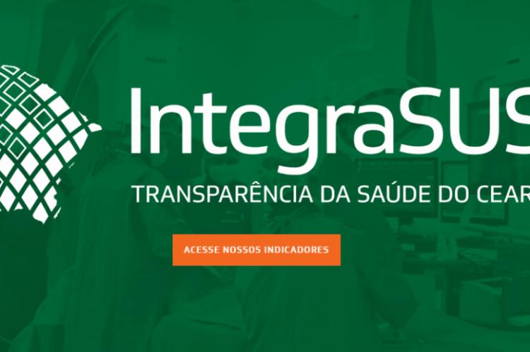 O sistema apresenta dados sobre funcionamento, pacientes e dados sobre o sistema de saúde pública do Ceará