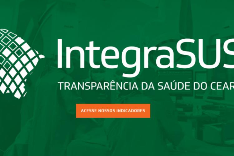 O sistema apresenta dados sobre funcionamento, pacientes e dados sobre o sistema de saúde pública do Ceará (Foto: Reprodução)