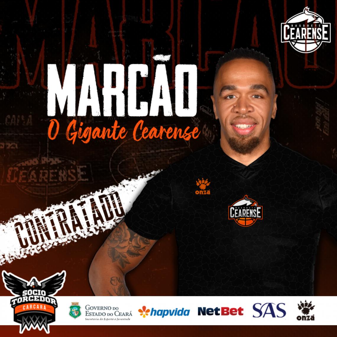 Marcão atuou por 31 partidas na última temporada da NBB, quando defendia a equipe do Bauru