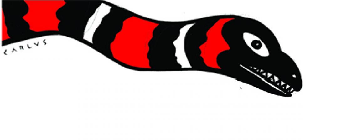 A lenda da Cobra do Extra não nasceu no Ceará, mas aqui também encontrou espaço.  Ilustração para o especial Histórias que o povo conta, do Vida&Arte