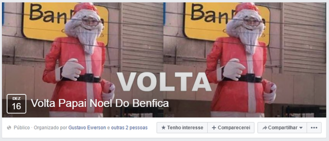 Campanha chegou a ser realizada pedindo a volta do Papai Noel do Shopping Benfica