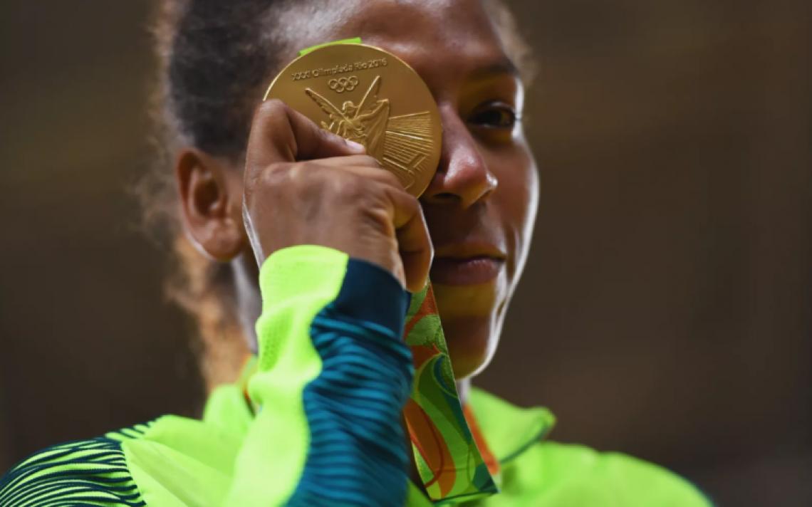 Rafaela Silva foi campeã olímpica em 2016.