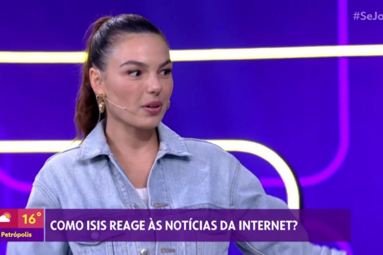 Isis Valverde rebate notícia do jornal O Globo sobre ter viajado e deixado o filho com marido. (Foto: Reprodução/TV Globo)