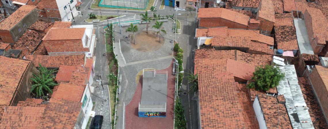 Praça do Abel no bairro Pirambu (Foto: Reprodução/Prefeitura de Fortaleza)