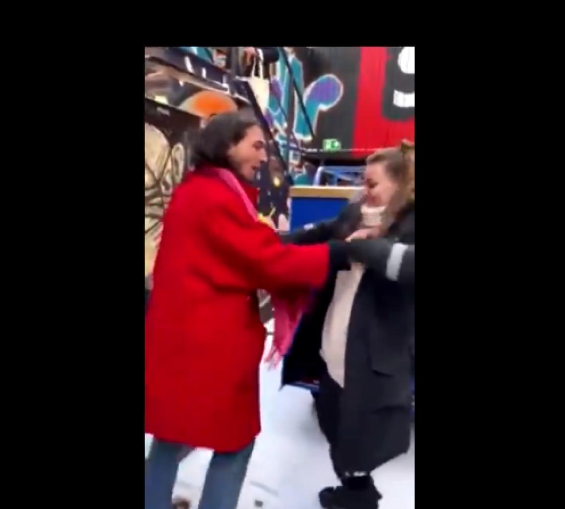 Vídeo mostra o ator supostamente enforcando uma fã
