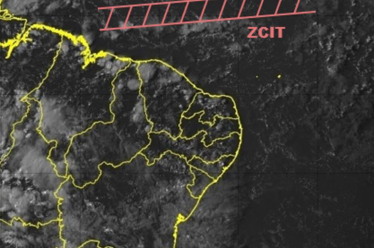 A ZCIT é o principal sistema indutor de chuva no norte do NE no período de fevereiro a maio
