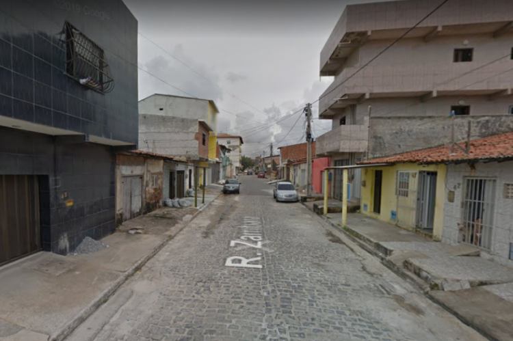 Rua Zambaia, no bairro Barra do Ceará, em Fortaleza