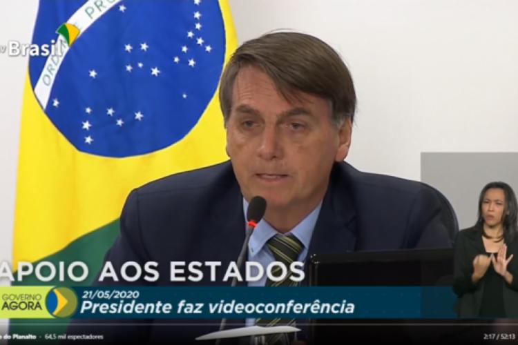 Reunião foi realizada de forma remota (Foto: Reprodução/TV Brasil)