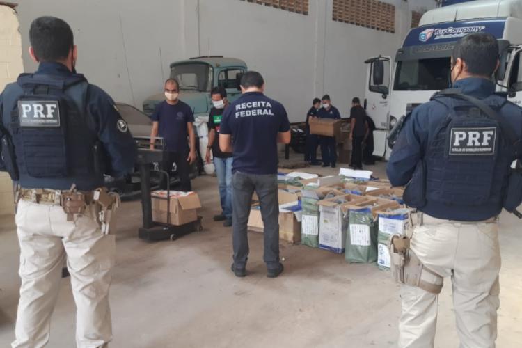 Carregamento de materiais ilegais é apreendido em Fortaleza (Foto: Divulgação)