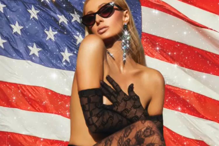 Foto publicada por Paris Hilton para comemorar a Independência dos Estados Unidos, em 4 de julho. (Foto: Reprodução/Instagram)