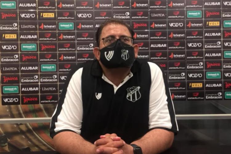 Clássico-Rei foi a segunda partida do técnico Guto Ferreira no comando técnico do Ceará (Foto: Reprodução/Vozão TV)