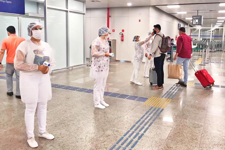 Entre os dias 1º e 15 de julho, os profissionais das barreiras sanitárias estiveram em contato com 26.445 passageiros (Foto: Divulgação/Sesa)