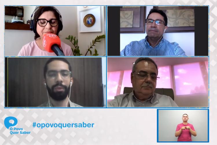 A conversa, de cerca de 1 hora, faz parte da iniciativa O POVO Quer Saber. (Foto: Reprodução/Youtube)