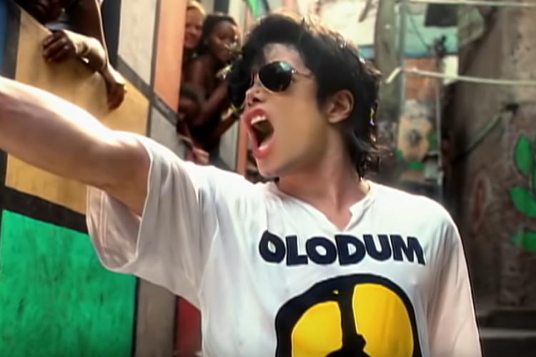Michael gravou o clipe no Brasil (Foto: Reprodução/Youtube)