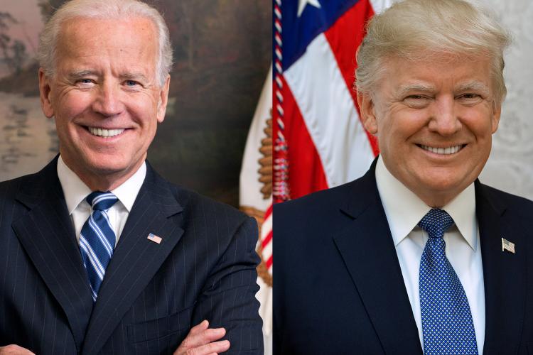 Os principais candidatos às eleições presidenciais de 2020 nos EUA, Joe Biden e Donald Trump (Foto: White House)