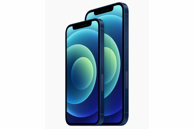 Novos iPhone 12 e iPhone 12 Mini, na foto, são os aparelhos intermediários da Apple, acima do iPhone SE lançado no início do ano; iPhones 12 Pro e Pro Max serão os topo de linha da empresa (Foto: Divulgação/Apple)