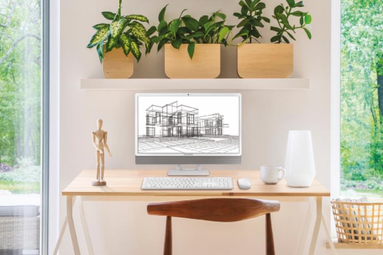 Integração entre equipamentos eletrônicos e decoração dos ambientes pode auxiliar na transformação dos espaços de home office em locais mais adaptados à realidade das residências (Foto: Divulgação/Samsung)