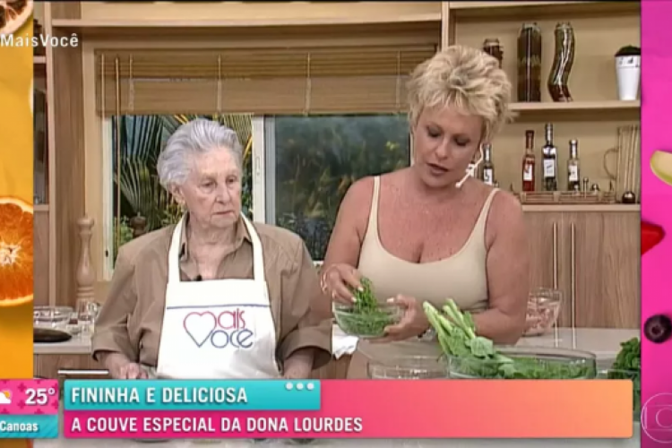 Receita de hoje teve participação especial (Foto: Reprodução/TV Globo)