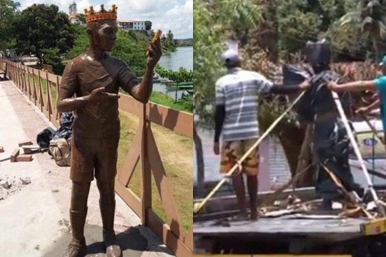 Estátua foi idealizada pela própria prefeitura  (Foto: Reprodução/Correio*)