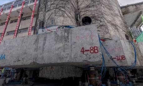 Estrutura foi movimentada com 200 pernas robóticas