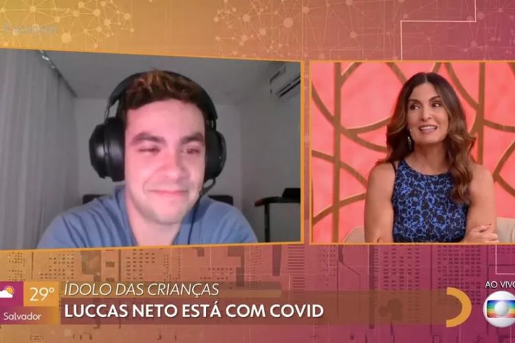 Youtuber comentou sobre seu isolamento no programa Encontro. (Foto: Reprodução/TV Globo)
