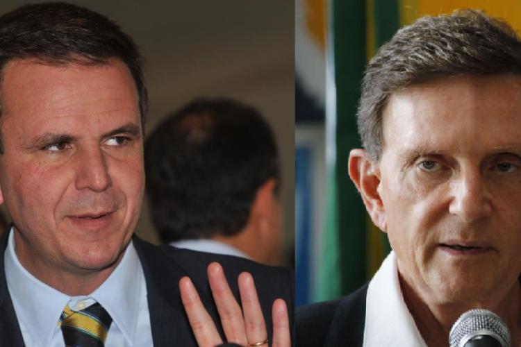 Resultado de pesquisa Datafolha divulgado nesta quinta aponta Eduardo Paes (DEM) com mais intenções de votos do que Marcelo Crivella (Republicanos). Ambos disputam o 2º turno no Rio de Janeiro (Foto: Agência Brasil)