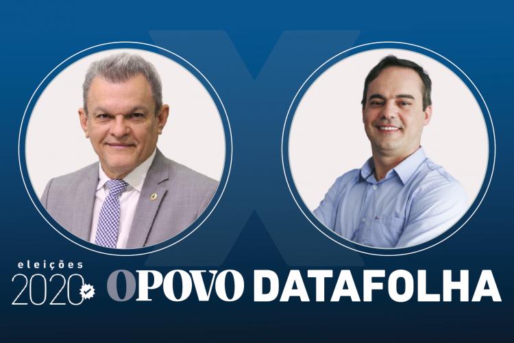 Sarto e Capitão Wagner disputam o 2º turno para prefeito de Fortaleza nas eleições 2020 (Foto: ARTE SARAH COSTA)