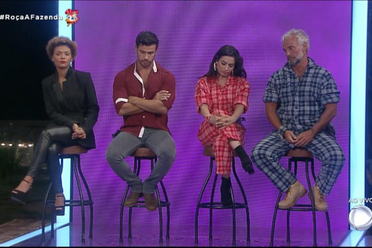 Os indicados da semana: Lidi Lisboa, Mateus Carrieri, Raissa Barbosa e Mariano (Foto: Reprodução/Record TV)