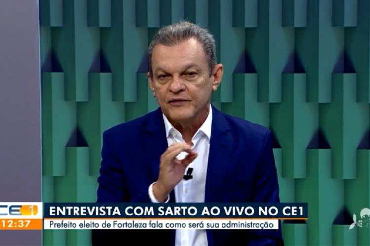 José Sarto concedeu entrevista à TV Verdes Mares nesta segunda-feira (Foto: Reprodução/TV Verdes Mares)