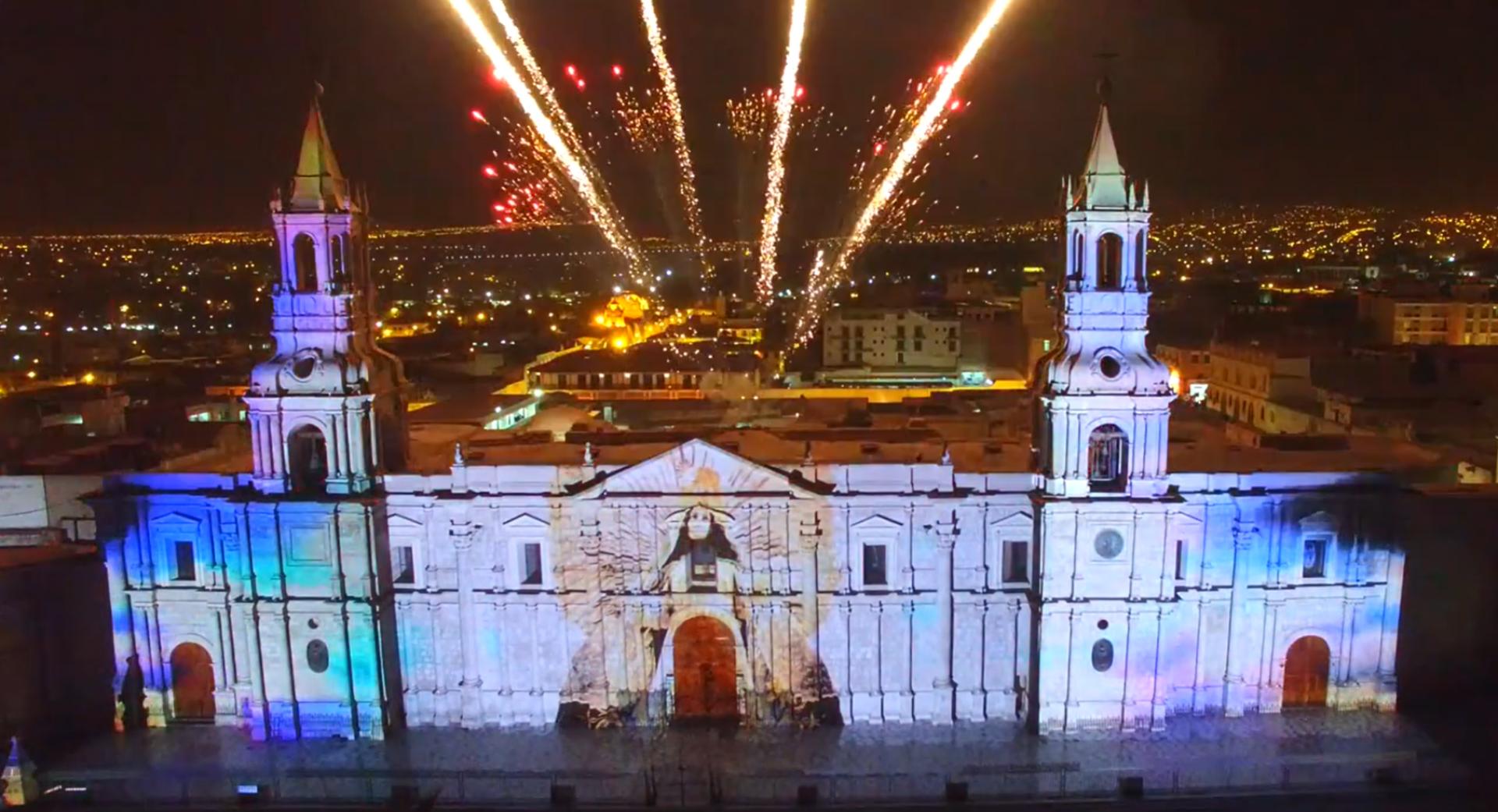 Comemoração dos 476 anos da catedral de Arequipa no Peru feita pelo VJ Malaki