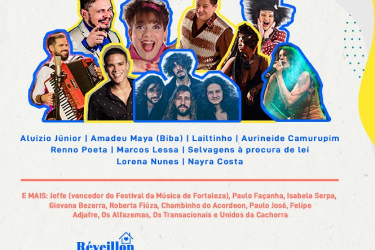 Programação completa da festa de Réveillon em Fortaleza. Intuito é substituir tradicional celebração no Aterro da Praia de Iracema, vetada devido a pandemia (Foto: Reprodução/Instagram)