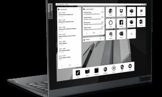 Lenovo ThinkBook Plus Gen 2i, com tela de e-Ink na traseira, foi um dos anúncios de notebooks da CES 2021; marcas como Dell, HP, Acer e Samsung também mostraram novidades no evento