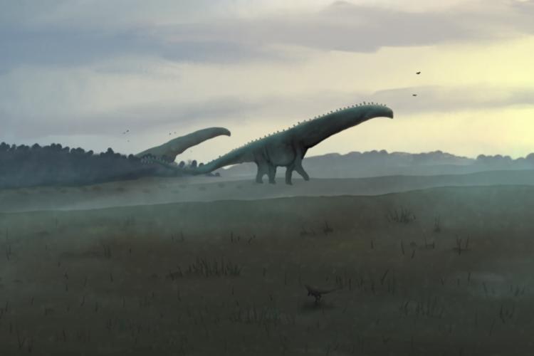 Acredita-se que o Titanossauro pesava quase 60 toneladas e tinha mais de 31 metros de comprimento (Foto: PaleoEquii/Wikimedia Commons)