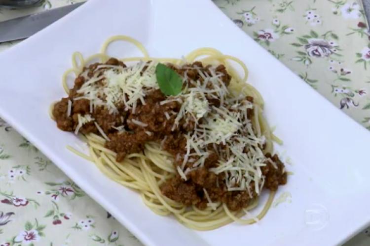 Carne moída de férias foi receita apresentada hoje, 21/01, no Mais Você por Ana Maria Braga (Foto: Reprodução/TV Globo)